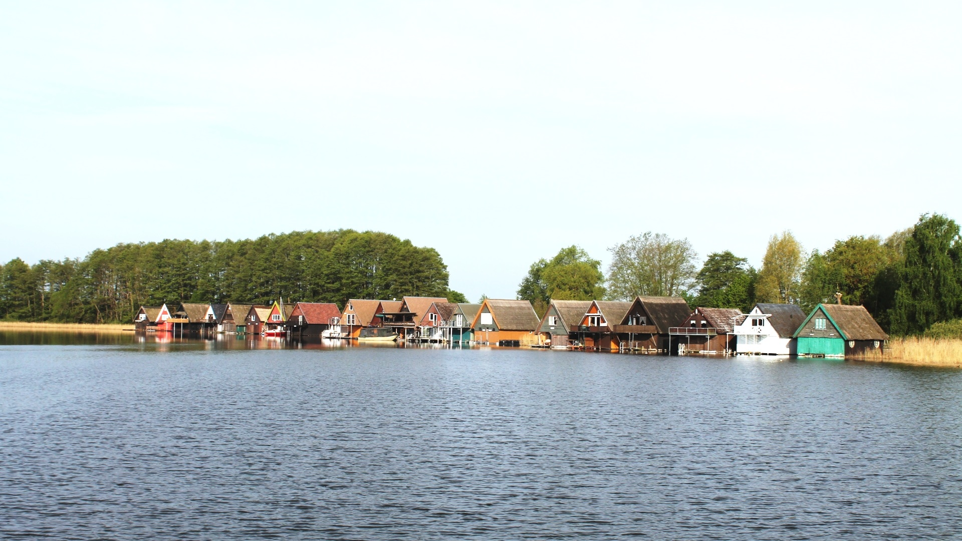 Bootshäuser am Mürtizarm